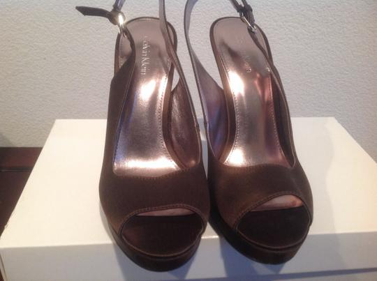 Calvin Klein Attractive Fabric Upper Brown Sandals