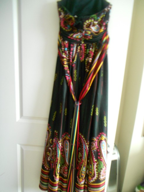 MULTI FLORAL Maxi Dress by Rubber Ducky Productions, Inc. Maxi Size Large Size Medium
