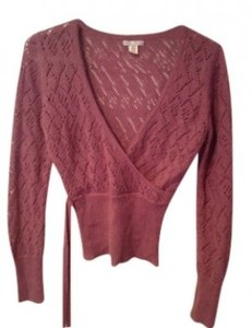 Lux Knit Ribbon Cut Out Sweater