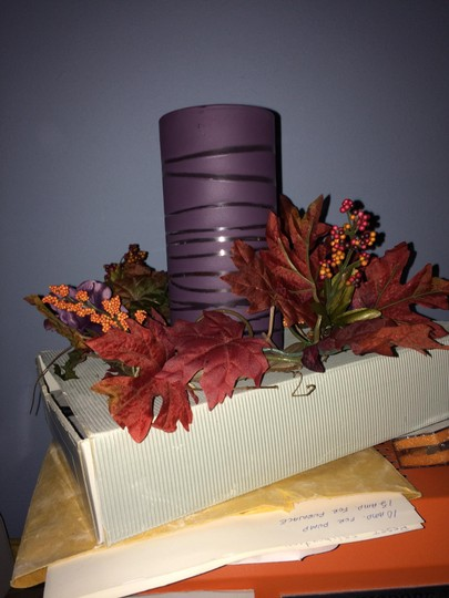 Dark Purple Large Candle Holders/Vases Centerpiece