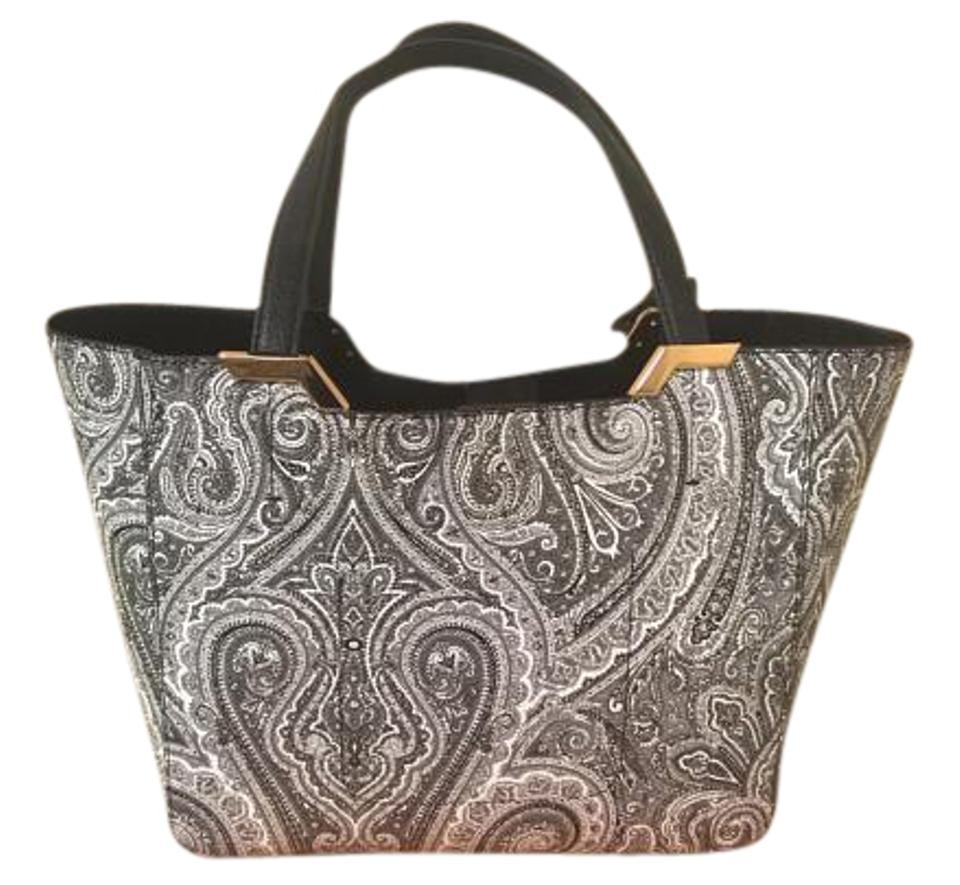 Ralph Lauren New Acadia Pai Shopper Black   White Paisley Faux ... b55471fa66e02