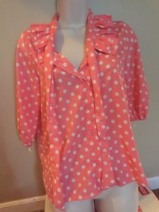 Top Pink with white polka dot