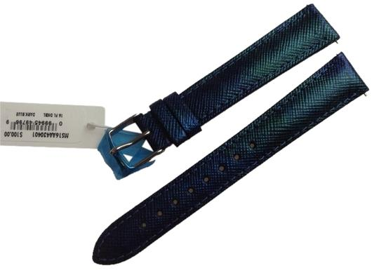 Michele Michele 16mm Dark Blue Genuine Leather Strap MS16AA430401