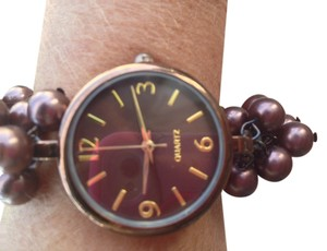 Coldwater Creek Pretty Ladies or Girls Watch Coldwater Creek- jeweled bracelet design adjustable band in Beautiful Brown/Bronze shade