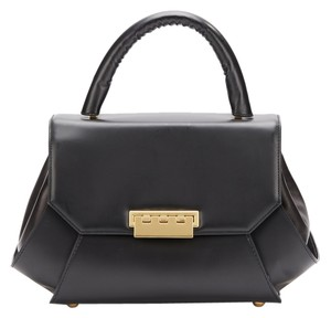 Zac Posen Z Spoke Leather Satchel in black
