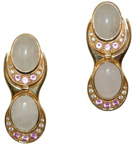 Fargier from Paris Gold 18 k pink zafire and diamonds with quartz