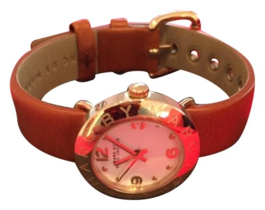Preload https://item4.tradesy.com/images/marc-by-marc-jacobs-tan-leather-watch-10350043-0-1.jpg?width=440&height=440