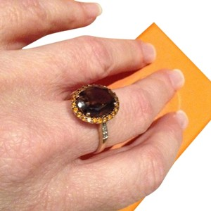 14k Topaz And Citrine Size 8 Ring