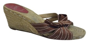 Christian Louboutin Espadrille 70mm Brown Wedges