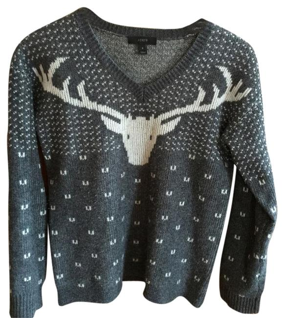 J.Crew Reindeer Christmas Holiday Sweater