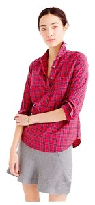 J.Crew Button Down Shirt Red tartan