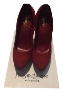 Saint Laurent Red Wedges