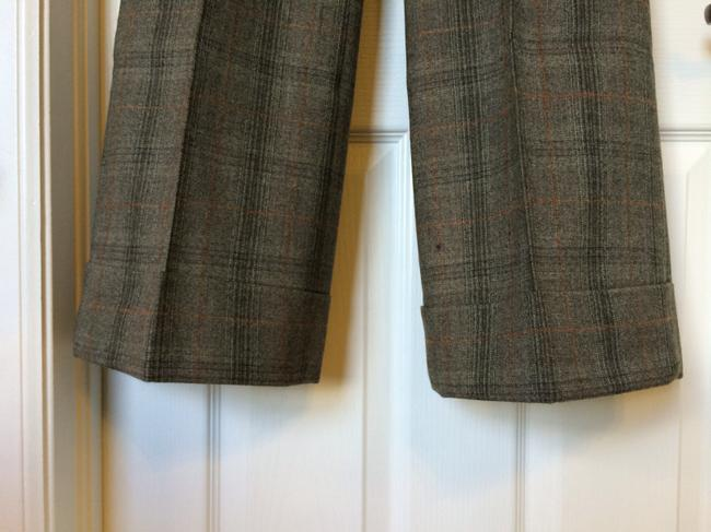 Banana Republic Trouser Pants Brown Plaid