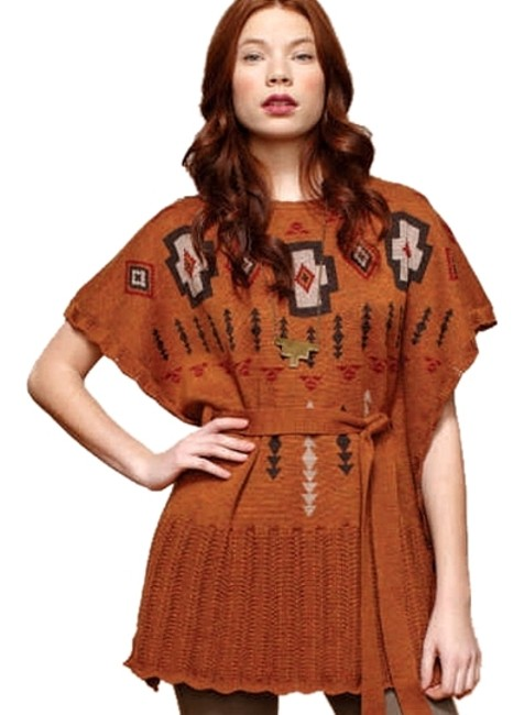 Item - Brown Sweater Poncho/Cape Size 2 (XS)