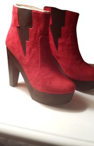 Madison Harding red Boots