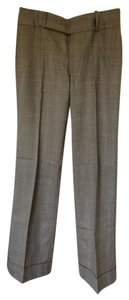 Banana Republic Trouser Pants Black, White, and Blue Plaid