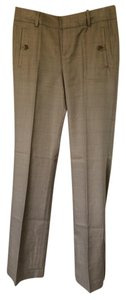 Banana Republic Trouser Pants Light Brown Plaid