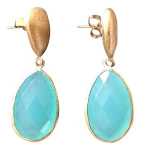 Rivka Friedman Rivka Friedman Carribean Blue Quartzite Earrings