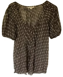 Banana Republic Top Brown Animal Print