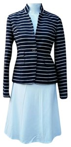 Banana Republic Striped Navy/White Blazer