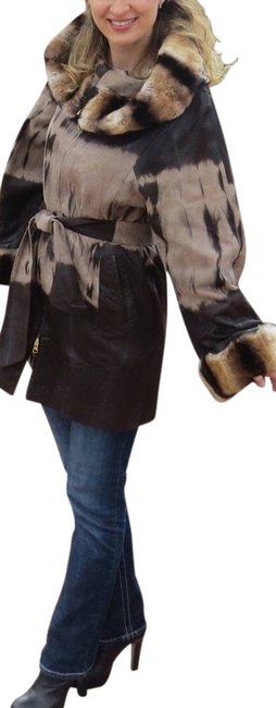 Preload https://item4.tradesy.com/images/brown-leather-chinchilla-fur-coat-size-6-s-10354138-0-3.jpg?width=400&height=650
