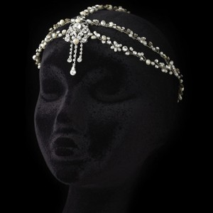 Elegance by Carbonneau Silver Dramatic Freshwater Pearl and Rhinestone Headpiece Hair Accessory