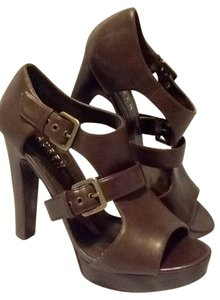 Ralph Lauren Leather Gladiator Platform Chocolate brown Platforms