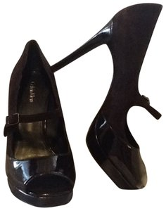 Calvin Klein Mary Jane Heels Mary Janes Platform Chocolate brown Pumps