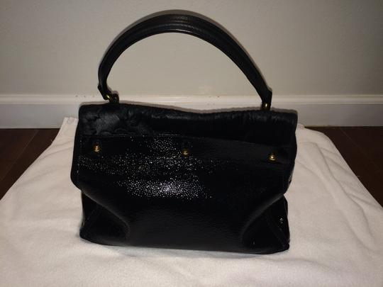 Saint Laurent Muse Satchel in Black Leather and Pony Hair