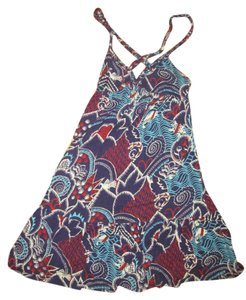 Lux short dress Blue/Red/White on Tradesy