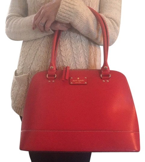 Preload https://item1.tradesy.com/images/kate-spade-red-leather-satchel-10356055-0-1.jpg?width=440&height=440