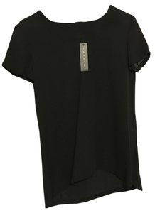 Theory Shell Silk Top Black
