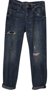 American Eagle Outfitters Ex Destroyed Destructed Distressed Boyfriend Cut Jeans