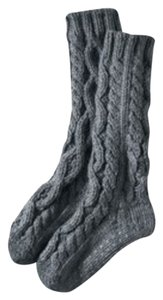 Lands' End Land's End Hand Knit Slipper Sock