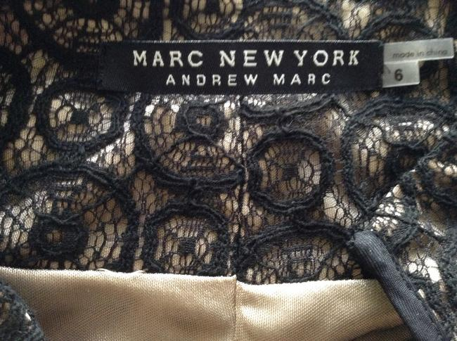 """Marc New York Fully Lined Lace Overlay Satin Waist With Satin Belt A Line Side Zipper Length Shoulder To Hem: 37.5"""" Width At Chest: Dress"""