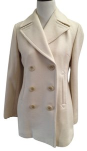 Banana Republic Off White Winter Cold Work Pea Coat