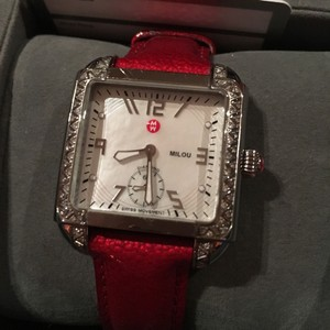 Michele Reserved for Jean*****Michele Diamond Red Pate Watch