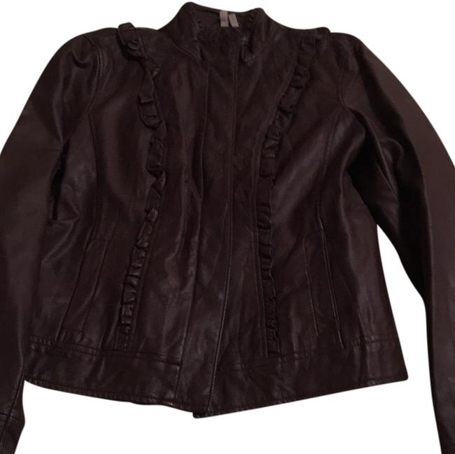 Preload https://item3.tradesy.com/images/caslon-eggplant-faux-ruffled-leather-jacket-size-12-l-10358227-0-1.jpg?width=400&height=650