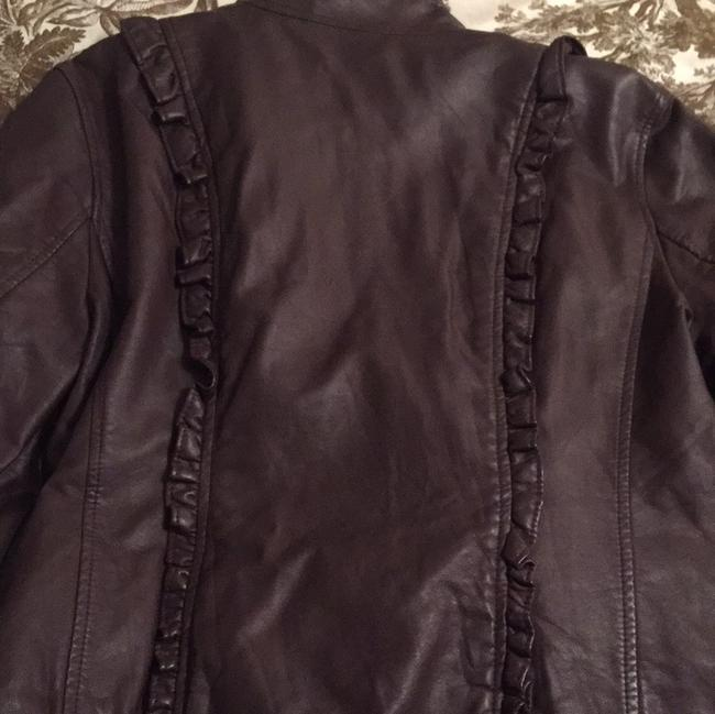 Caslon Eggplant Leather Jacket