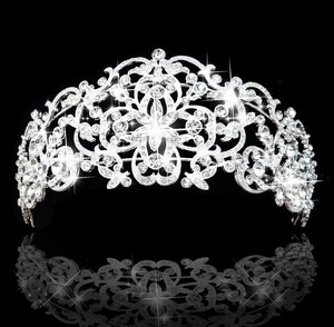 Gorgeous Clear Rhinestone Crystal Bridal Tiara Crown