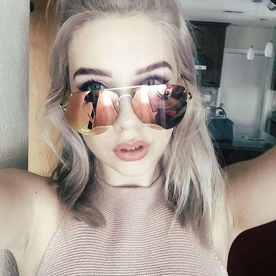 18fb976fa Quay Pink and Gold Mirror Lens X Amanda Steele Muse Out Sunglasses ...