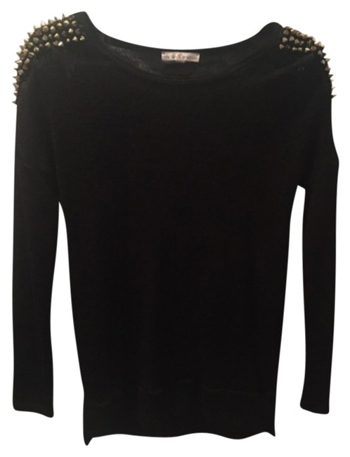 Preload https://item2.tradesy.com/images/moa-moa-black-with-gold-studs-studded-sleeve-sweaterpullover-size-0-xs-10358596-0-1.jpg?width=400&height=650