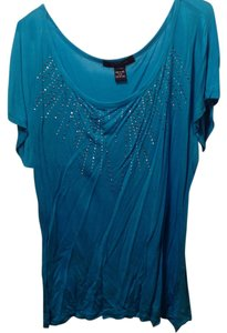 Ashley Stewart Top Aqua Blue