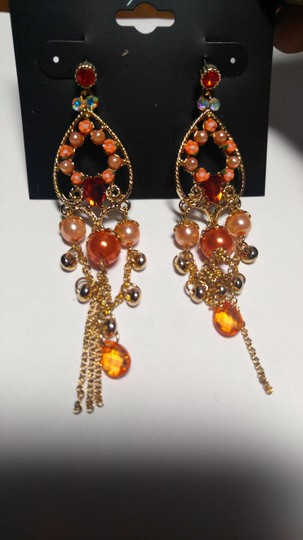 Mixit New Mixit Dangle Chandelier Earrings Gold Tone J1796