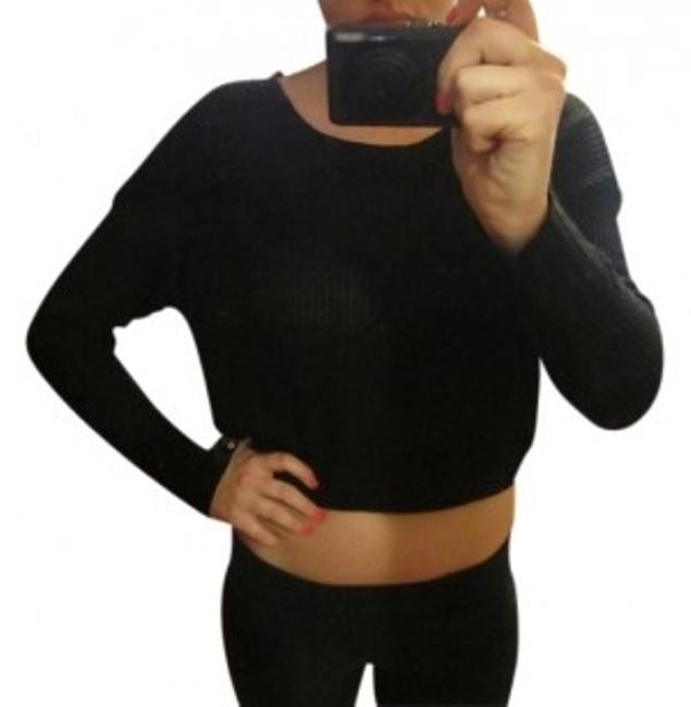 Preload https://item3.tradesy.com/images/sparkle-and-fade-black-grey-cropped-knit-sweaterpullover-size-4-s-103592-0-0.jpg?width=400&height=650