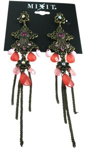 New Cross Chandelier Dangle Earrings Antiqued Gold J1801