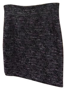 Antonio Melani Pencil Lined Skirt Black, Plum Purple Tweed