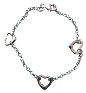 Blue Nile Sterling Silver Open Triple Hearts Bracelet