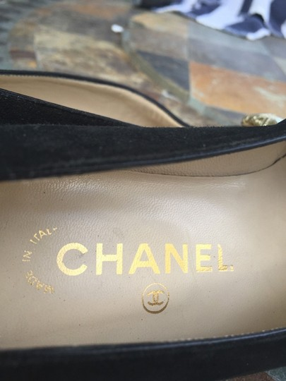 Chanel Quilted Toes Ballet gold and black Flats