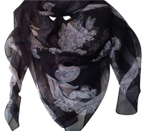 Alexander McQueen Brand New Alexander McQueen Butterfly and Skull Scarf with Tag